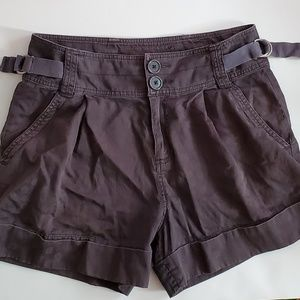 MARC JACOBS high rise pleated cuffed chino shorts